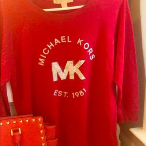 Red Michael Kors Shirt